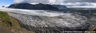a panorama picture of one of dozens glaciers (skaftafell)