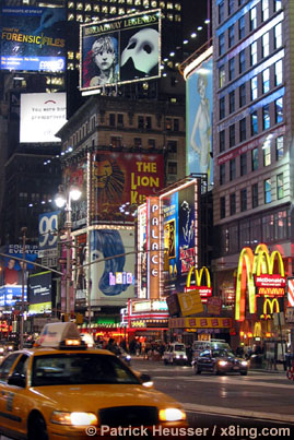 the broadway: more lights then stars in the sky (new york, usa)